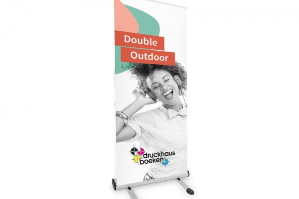 Doppel-Roll-Up Outdoor